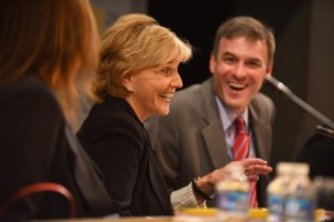 Beverly Perdue, former Governor of North Carolina, and Doug Levin